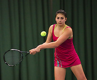 Rotterdam, The Netherlands, 15.03.2014. NOJK 14 and 18 years ,National Indoor Juniors Championships of 2014, Tessa van de Ploeg (NED)<br /> Photo:Tennisimages/Henk Koster