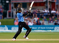 David Wiese hits out for Sussex during Kent Spitfires vs Sussex Sharks, Vitality Blast T20 Cricket at The Spitfire Ground on 18th July 2021
