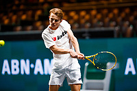 Rotterdam, The Netherlands, 11 Februari 2020, ABNAMRO World Tennis Tournament, Ahoy, <br /> Stefanos Tsitsipas (GRE), Hubert Hurkacz (POL). <br /> Photo: www.tennisimages.com