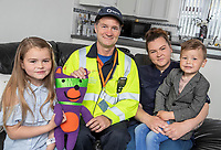 "Pictured: Jaydee-Lee Dummett with emergency engineer Sean Ward, mum Lindy Burke and brother Laylan.<br /> Re: A quick thinking seven-year old has saved the lives of her family after putting her gas safety knowledge to good use and spotting the deathly signs of carbon monoxide poisoning.<br /> Fochriw Primary's Jaydee-Lee Dummett reeled off the gas emergency telephone number to her panicked mother, Lindy, after her brother woke in the middle of the night disorientated and seeing things. It was Jaydee-Lee who then quickly spotted the carbon monoxide detector alarm had turned from its usual green colour to red and instructed her mum to ring for help immediately.<br /> Jaydee-Lee's mum, Lindy Burke, explains:<br /> ""A few weeks previous Jaydee-Lee had come home from school full of beans after being visited by the team from Wales & West Utilities who delivered a gas safety session. Looking back, without this lesson I genuinely don't think we'd still be alive.<br /> ""After seeing her brother so confused, Jaydee-Lee quickly looked for other tell-tale signs of carbon monoxide poisoning and then, like it was second nature, she reeled off the gas emergency number – 0800 111 999 – I couldn't believe it!""<br /> Engineers from Wales & West Utilities quickly attended the family home and turned off the gas supply and made it safe, whilst Jaydee-Lee made a further impression on the engineers with her knowledge.<br /> Sean Ward, a Wales & West Utilities emergency engineer, attended the family home and said""The quick-thinking actions of Jaydee-Lee have saved her family's lives and she should be commended. From speaking to her that night it was clear that she took in such a lot of vital information from the gas safety session which is fantastic!<br /> ""Every year we make approximately 4,000 visits to properties where we find evidence of carbon monoxide.  It's important for people to realise that this is a poisonous gas that doesn't smell, has no taste and can't be seen - but it kills 50 people in the"
