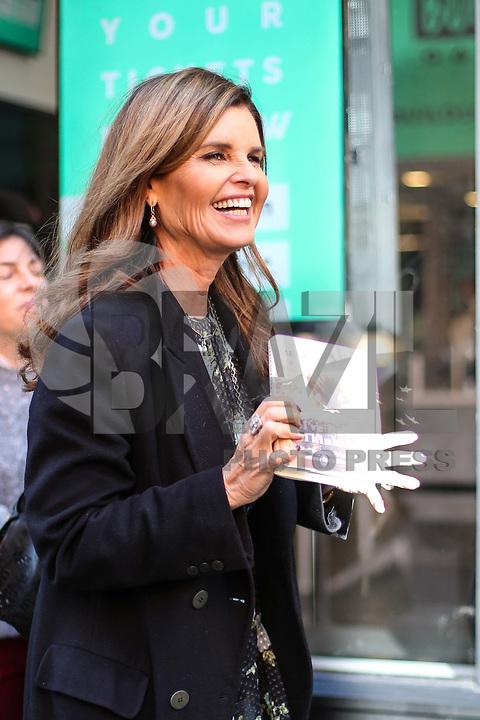 NOVA YORK, EUA, 27.02.2017 - CELEBRIDADES-EUA - A escritora Maria Shriver é vista na Ilha de Manhattan na cidade de New York nos Estados Unidos nesta terça-feira, 27. (Foto: Vanessa Carvalho/Brazil Photo Press)