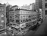 Pittsburgh PA:  View of Fifth Avenue and the Gypsy Tea Room from Brady Stewart Studio, 812 Market Street.