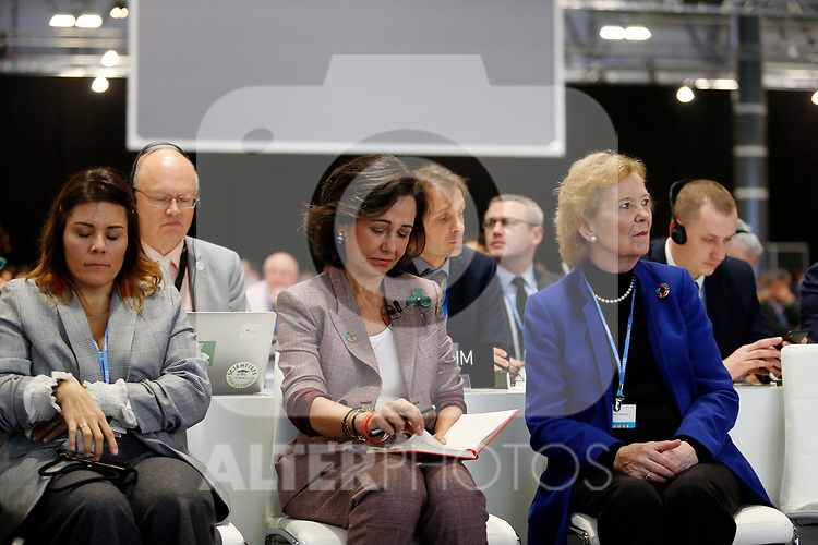 Ana Patricia Botín CEO of Banco Santander and ex president of Ireland Mary Robinson during the nineth day of COP25 in IFEMA Madrid on Dec 11, 2019 (ALTERPHOTOS/Manu R.B.)