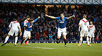 Jon Daly celebrates his goal at the start of the second half
