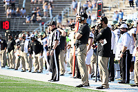 CHAPEL HILL, NC - NOVEMBER 14: Head coach Dave Clawson of Wake Forest watches from the sideline during a game between Wake Forest and North Carolina at Kenan Memorial Stadium on November 14, 2020 in Chapel Hill, North Carolina.