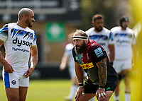 29th May 2021; Twickenham Stoop, London, England; English Premiership Rugby, Harlequins versus Bath; Joe Marler of Harlequins resting up after a collapsed scrum