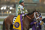 Mucho Macho Man , ridden by Gary Stevens, and trained by Kathy Ritvo  wins the Breeders' Cup Classic (G1) on November 2, 2013 at Santa Anita Park in Arcadia, California during the 30th running of the Breeders' Cup.