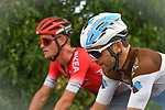 The peloton including Tony Gallopin (FRA) AG2R La Mondiale during Stage 2 of the Route d'Occitanie 2020, running 174.5km from Carcassone to Cap Découverte, France. 2nd August 2020. <br /> Picture: Colin Flockton | Cyclefile<br /> <br /> All photos usage must carry mandatory copyright credit (© Cyclefile | Colin Flockton)