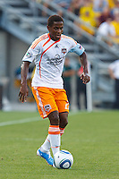 24 JULY 2010:  Lovel Palmer of the Houston Dynamo (22) during MLS soccer game between Houston Dynamo vs Columbus Crew at Crew Stadium in Columbus, Ohio on July 3, 2010. Columbus defeated the Dynamo 3-0.