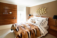 Animal print bed cover