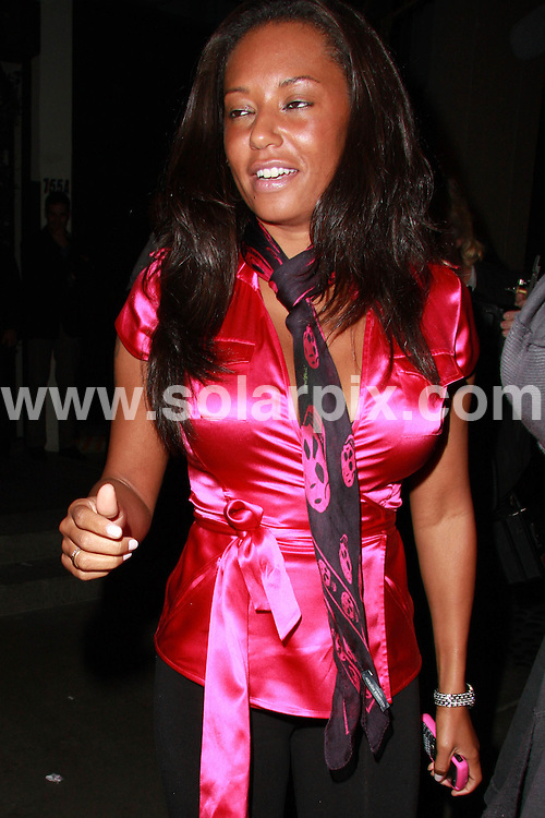 **ALL ROUND PICTURES FROM SOLARPIX.COM**.**WORLDWIDE SYNDICATION RIGHTS**.**NO PUBLICATION IN AUSTRALIA, DENMARK, GERMANY, NEW ZEALAND, RUSSIA, UK OR USA**.Mel B and her husband enjoy a late night dinner at STK Restaurant in West Hollywood, California. 26th August 2008..This pic: Mel B..JOB REF: 7131 LAP (JSG)      DATE: 26_08_2008.**MUST CREDIT SOLARPIX.COM OR DOUBLE FEE WILL BE CHARGED* *UNDER NO CIRCUMSTANCES IS THIS IMAGE TO BE REPRODUCED FOR ANY ONLINE EDITION WITHOUT PRIOR PERMISSION*