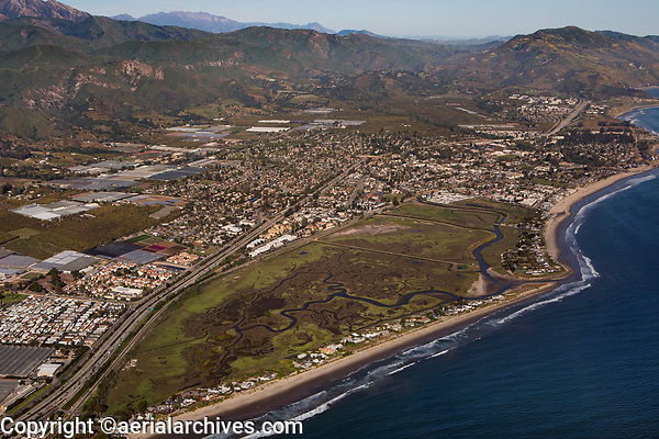 aerial photograph of Santa Barbara County, California