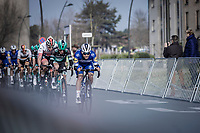 Young Gun Remco Evenepoel (BEL/Deceuninck Quick Step) leading the peloton into the  local laps<br /> <br /> <br /> Bredene Koksijde Classic (2019) ( former Handzame Classic )<br /> Bredene > Koksijde 199km (BEL)<br /> <br /> ©kramon
