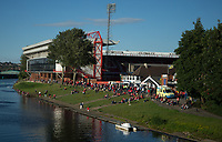 Nottingham Forest fans enjoying the sun on the banks of the River Trent before the Sky Bet Championship match between Nottingham Forest and Millwall at the City Ground, Nottingham, England on 4 August 2017. Photo by James Williamson / PRiME Media Images.