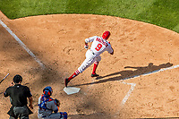 30 April 2017: Washington Nationals outfielder Rafael Bautista makes his Major League debut in the 7th inning against the New York Mets at Nationals Park in Washington, DC. The Nationals defeated the Mets 23-5, with the Nationals setting several individual and team records, in the third game of their weekend series. Mandatory Credit: Ed Wolfstein Photo *** RAW (NEF) Image File Available ***
