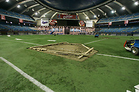 The day after  Baseball team Montreal's Expos played their last game at  Montreal's Olympic stadium after beeing bought and transfered by Jeffrey Lorria.<br /> <br /> photo : (c)  Images Distribution