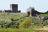 Burgruine Hammershus aus dem 13. Jh. auf der Insel Bornholm, Dänemark, Europa<br /> Casle ruin Hammershus (13.c.), Isle of Bornholm, Denmark