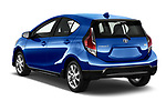 Car pictures of rear three quarter view of 2017 Toyota Prius-c Four 5 Door Hatchback Angular Rear