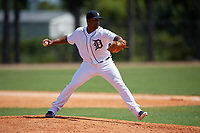 Detroit Tigers pitcher Williander Moreno (39) during an Instructional League game against the Philadelphia Phillies on September 19, 2019 at Tigertown in Lakeland, Florida.  (Mike Janes/Four Seam Images)