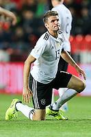 enttaeuschung bei  Thomas Mueller #13 (Germany), Tschechische Republik vs. Germany, Football, WM-Qualifikation, 01.09.2017 *** Local Caption *** © pixathlon<br /> Contact: +49-40-22 63 02 60 , info@pixathlon.de