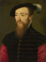 Full title: Portrait of a Man (Paul, Sire d'Andouins?)<br /> Artist: French<br /> Date made: 1543<br /> Source: http://www.nationalgalleryimages.co.uk/<br /> Contact: picture.library@nationalgallery.co.uk<br /> <br /> Copyright © The National Gallery, London