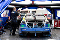 The garage of Steve Hill, Mitsubishi EVO X, BRX Supercars between qualifiers during the 5 Nations BRX Championship at Lydden Hill Race Circuit on 31st May 2021