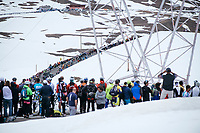 fans watching the riders come up the famous (& highest point in this years Giro) Passo dello Stelvio (alt: 2758m)<br /> <br /> Stage 16: Rovett › Bormio (222km)<br /> 100th Giro d'Italia 2017