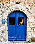 Entrance to La Porte Bleue, in Tourrettes sur Loup.