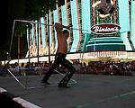 Sandou Circus school performs at Fremont Street Experience 1st Street stage in Las Vegas, Nevada, Monday July 30, 2007.  Photographer: Larry Burton/UnitedPressImaging.com  .
