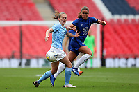 29th August 2020; Wembley Stadium, London, England; Community Shield Womens Final, Chelsea versus Manchester City; Melanie Leupolz of Chelsea Women takes on Keira Walsh of Manchester City Women
