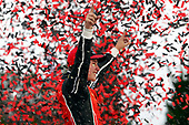 NASCAR XFINITY Series<br /> Kansas Lottery 300<br /> Kansas Speedway, Kansas City, KS USA<br /> Saturday 21 October 2017<br /> Christopher Bell, JBL Toyota Camry celebrates in victory lane <br /> World Copyright: Russell LaBounty<br /> LAT Images