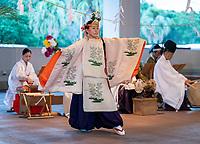 MIYAZAKI, JAPAN - JULY 12: Members of the USWNT attend a Shinto victory ceremony organized by the Miyazaki Jingu shrine at the hotel grounds on July 12, 2021 in Miyazaki, Japan.