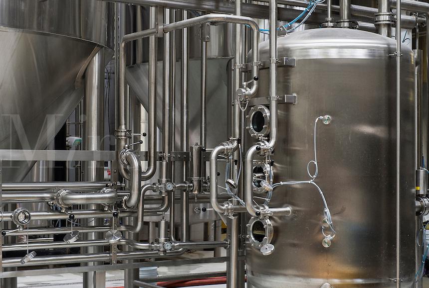 Fermentation tanks, Dogfish Head Brewery, Milton, Delaware, USA