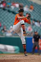 Norfolk Tides pitcher Chris Lee (63) during an International League game against the Buffalo Bisons on June 21, 2019 at Sahlen Field in Buffalo, New York.  Buffalo defeated Norfolk 2-1, the first game of a doubleheader.  (Mike Janes/Four Seam Images)