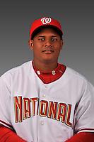 14 March 2008: ..Portrait of Atahualpa Severino, Washington Nationals Minor League player at Spring Training Camp 2008..Mandatory Photo Credit: Ed Wolfstein Photo