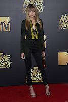 Gigi Hadid @ the 2016 MTV Movie Awards held @ the Warner studios.<br /> April 9, 2016