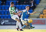 St Johnstone v Celtic…04.11.17…  McDiarmid Park…  SPFL<br />Stefan Scougall and Nir Bitton<br />Picture by Graeme Hart. <br />Copyright Perthshire Picture Agency<br />Tel: 01738 623350  Mobile: 07990 594431