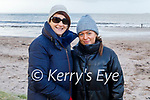 Enjoying a stroll on Derrymore beach on Saturday, L to r: Oonagh and Caragh O'Neill