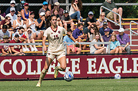 NEWTON, MA - SEPTEMBER 12: Samantha Agresti #15 of Boston College dribbles during a game between Holy Cross and Boston College at Newton Campus Soccer Field on September 12, 2021 in Newton, Massachusetts.