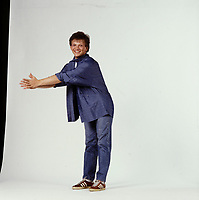Portrait studio exclusif de <br /> L'imitateur Andre-Philippe Gagnon<br /> , vers 1985<br /> <br /> PHOTO : Harold Beaulieu -  Agence Quebec Presse