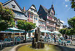 Germany, Rhineland-Palatinate, Ahr-Valley, Adenau: town in the High Eifel, known as the 'Johanniterstadt', market square at centre | Deutschland, Rheinland-Pfalz, Adenau: Stadt in der Hocheifel auch bekannt als Johanniterstadt, Marktplatz in der Innenstadt