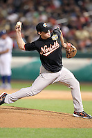 Mark Worrell #25 of the Norfolk Tides plays for the International League All-Stars in the annual Triple-A All-Star Game against the Pacific Coast League All-Stars at Spring Mobile Ballpark on July 13, 2011  in Salt Lake City, Utah. The International League won the game, 3-0. Bill Mitchell/Four Seam Images.