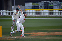Michael Snedden bowls during day two of the Plunket Shield men's cricket match between Wellington Firebirds and Northern Districts at the Basin Reserve in Wellington, New Zealand on Sunday, 28 March 2021. Photo: Dave Lintott / lintottphoto.co.nz