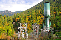 Glines Canyon Dam Transformer Unit, Olympic National Park, Washington State. Also called Upper Elwha River Dam.
