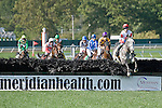 09-25-10: Slip Away leads the way at the start of the Grade I Helen Haskell Sampson Stakes.