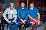 Enjoying the evening in Killarney on Saturday, l to r: Liam Grady, Ger Griffin and Niall Enright from Lixnaw.