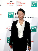 "La regista giapponese Miwa Nishikawa posa durante un photo call per la presentazione del film ""The Long Excuse"" al Festival Internazionale del Film di Roma, 18 ottobre 2016.<br /> Japanese director Miwa Nishikawa poses during a photo call to present the movie ""The Long Excuse"" during the international Rome Film Festival at Rome's Auditorium,18 October 2016.<br /> UPDATE IMAGES PRESS/Isabella Bonotto"