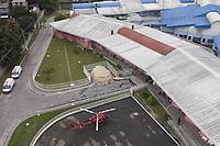 Sao Goncalo, (RJ), 05/04/2020 - Covid-19-Rio - Imagens aereas do  Hospital Estadual Alberto Torres (Heat), em Sao Goncalo, um hospital de campanha que vai cuidar de pacientes que estao com suspeitas do coronavirus. Na tarde deste domingo (05). (Foto: Andre Fabiano/Codigo 19/Codigo 19)