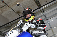 January 23, 2014:<br /> <br /> Team Caterham Motor Racing Moto2 rider Josh Herrin of Glendale, California prepares for practice lap to familiarize himself with the track at Circuit of the Americas in Austin, TX.