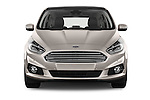 Car photography straight front view of a 2016 Ford S-Max Titanium 5 Door Minivan Front View